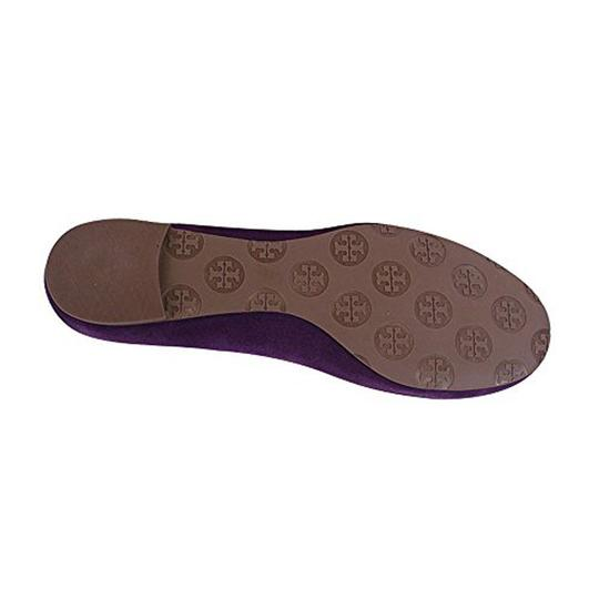 Tory Burch Reva Suede Purple Size 5.5 Sweet Plum/ Gold Flats Image 3