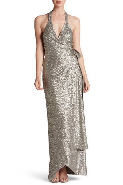 Preload https://img-static.tradesy.com/item/23706042/dress-the-population-platinum-giselle-sequin-wrap-gown-long-formal-dress-size-6-s-0-0-650-650.jpg