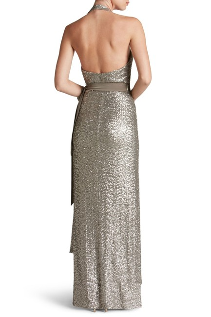 Dress the Population Sequin Wrap Evening Wedding Dress Image 2
