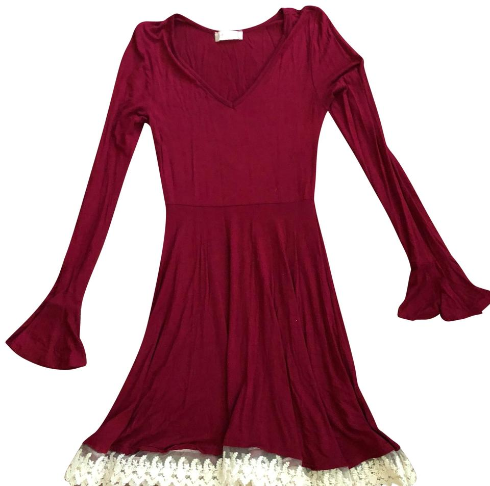 Altar D State Wine Winter Collection Short Casual Dress