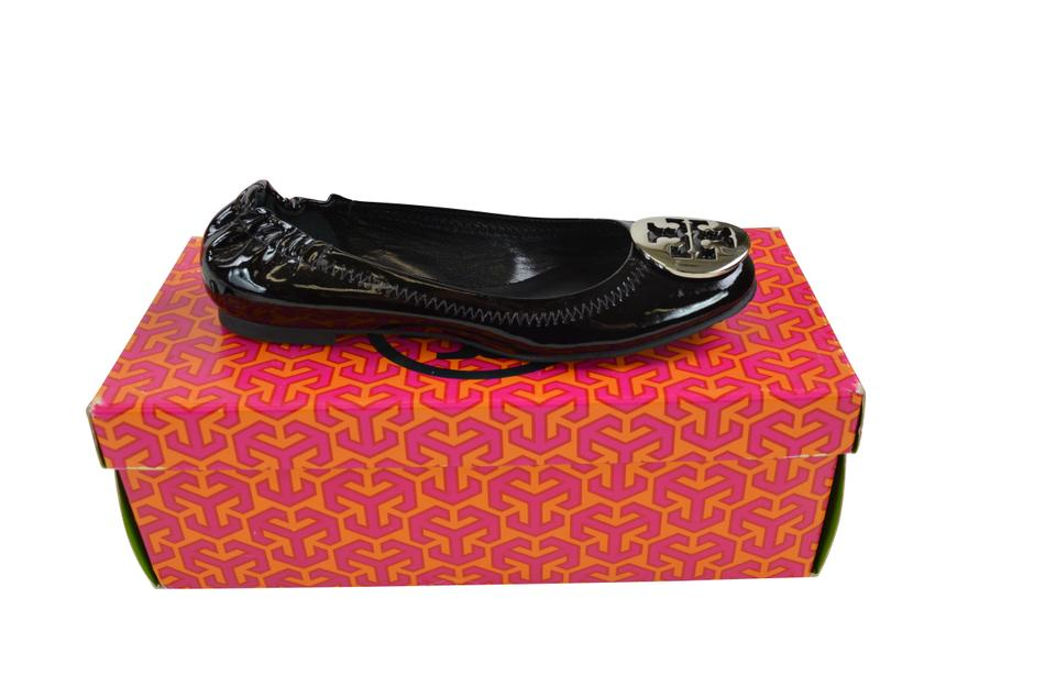 bc57a49c528c Tory Burch Black  Silver Classic Reva Patent Leather Ballet Flats ...