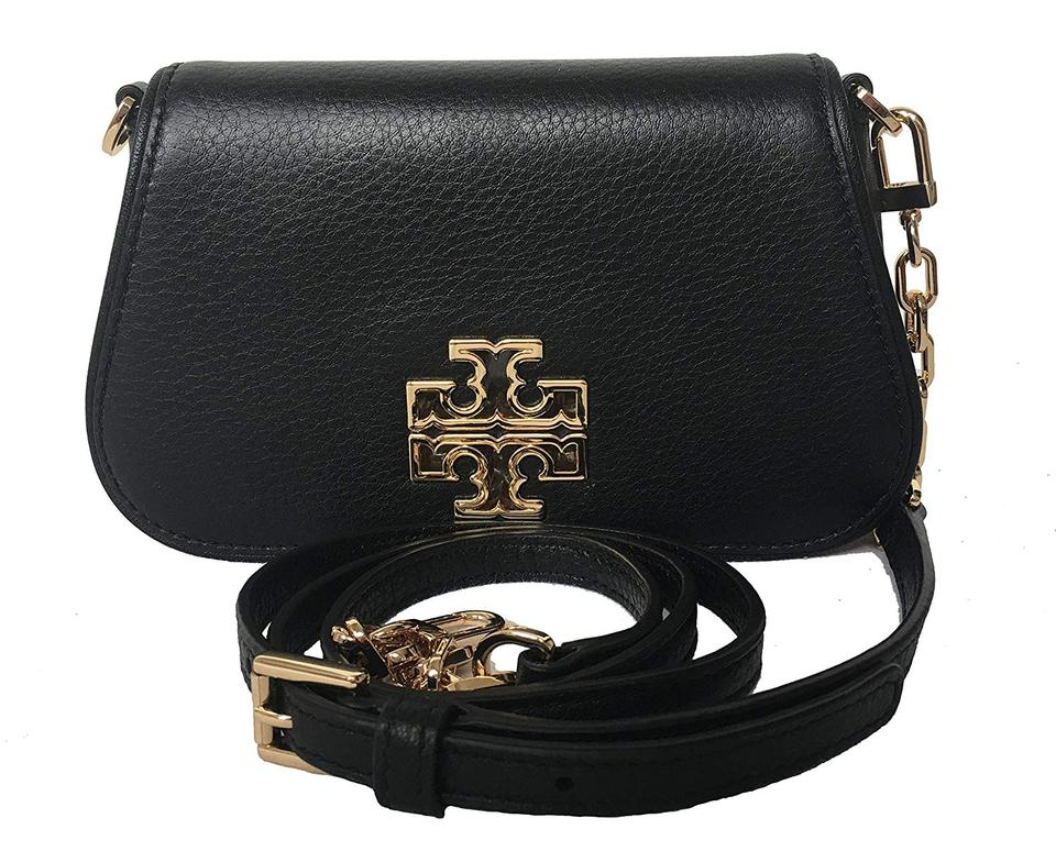 Black Bag Leather Britten Body Tory Mini Cross Burch 39058 wxSInxzBgq