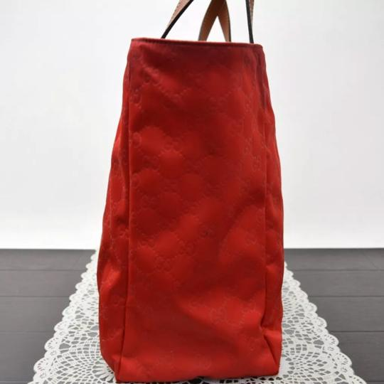 Gucci Tote in Red Image 4
