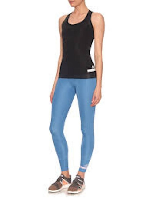 adidas By Stella McCartney Women's Blue Cropped Performance Leggings Image 3