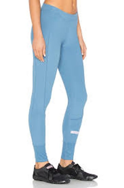 adidas By Stella McCartney Women's Blue Cropped Performance Leggings Image 4