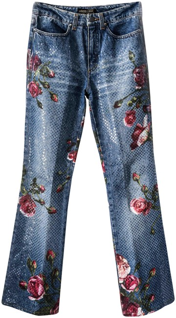 Roberto Cavalli Boot Cut Jeans-Medium Wash Image 0
