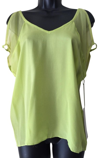 Preload https://img-static.tradesy.com/item/23706464/line-and-dot-neon-green-sheer-cutout-shoulder-blouse-size-4-s-0-1-650-650.jpg