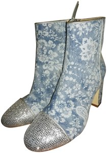 Polly Plume Blue silver Boots