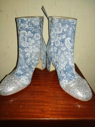 Polly Plume Blue silver Boots Image 1