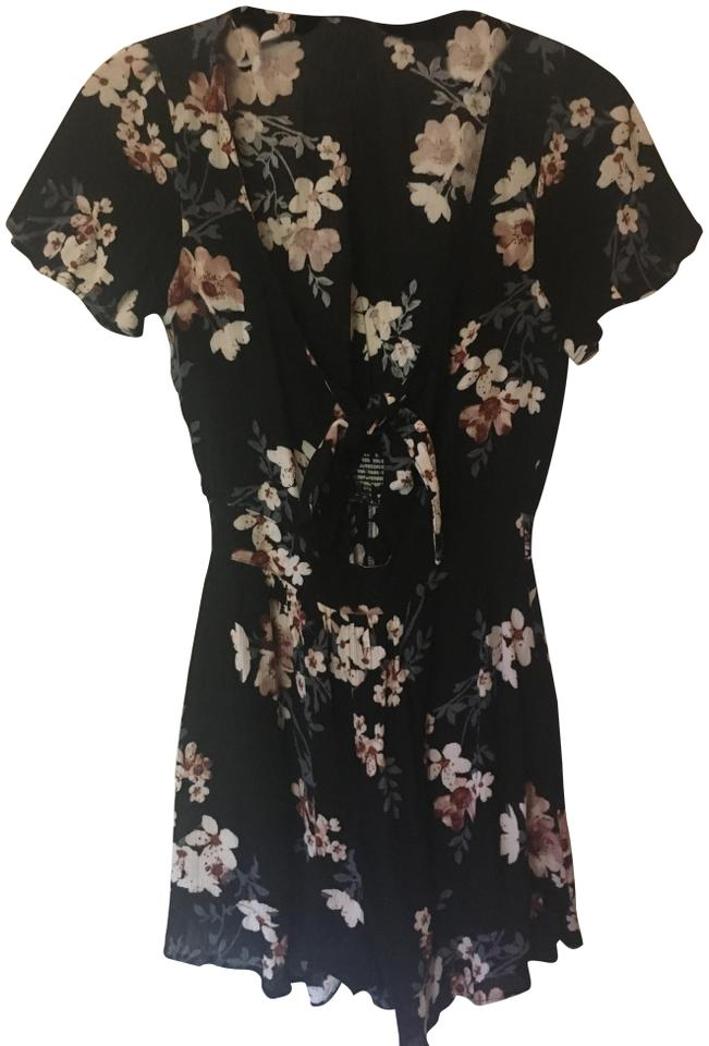 ff3c73e98e10 American Eagle Outfitters Floral Aeo Tie Front Romper Jumpsuit - Tradesy