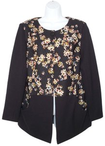 LOGO by Lori Goldstein Printed Floral Quilted Jacket