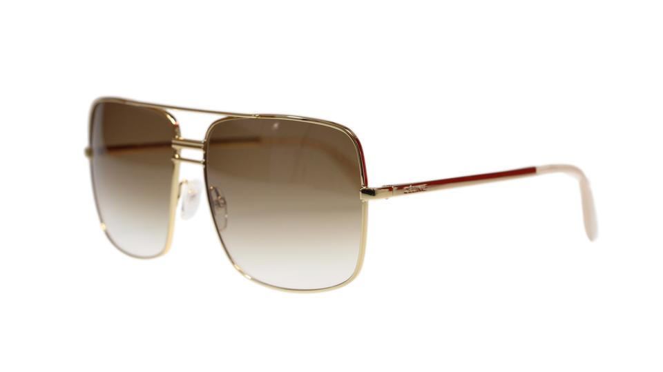 899858d522e6 Céline Gold Brown Lens Cl41808 J5g with Gradient Sunglasses - Tradesy