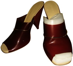 Lemaire Burgundy beige golden Mules