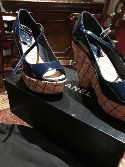 Chanel Dark Navy Patent /Leather Sandals Image 10