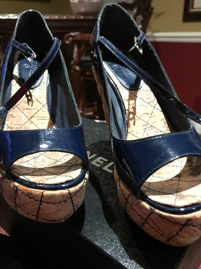 Chanel Dark Navy Patent /Leather Sandals Image 7