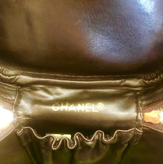 Chanel CHANEL CC Cosmetic HandBag Vanity Brown Leather Image 6