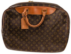 Louis Vuitton Monogram Carry On Overnight Pouch Brown Travel Bag