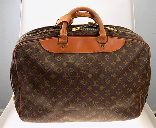 Louis Vuitton Monogram Carry On Overnight Pouch Brown Travel Bag Image 1