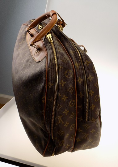 Louis Vuitton Monogram Carry On Overnight Pouch Brown Travel Bag Image 10
