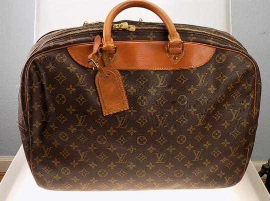 Louis Vuitton Monogram Carry On Overnight Pouch Brown Travel Bag Image 2