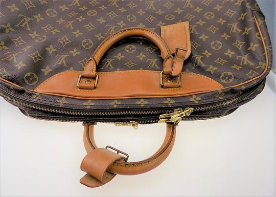 Louis Vuitton Monogram Carry On Overnight Pouch Brown Travel Bag Image 6
