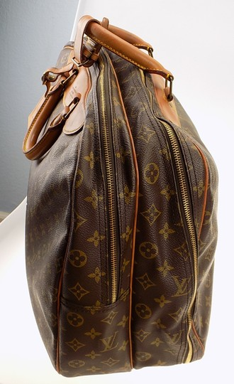 Louis Vuitton Monogram Carry On Overnight Pouch Brown Travel Bag Image 8