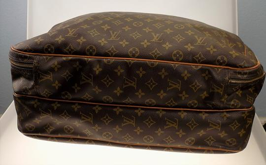 Louis Vuitton Monogram Carry On Overnight Pouch Brown Travel Bag Image 9