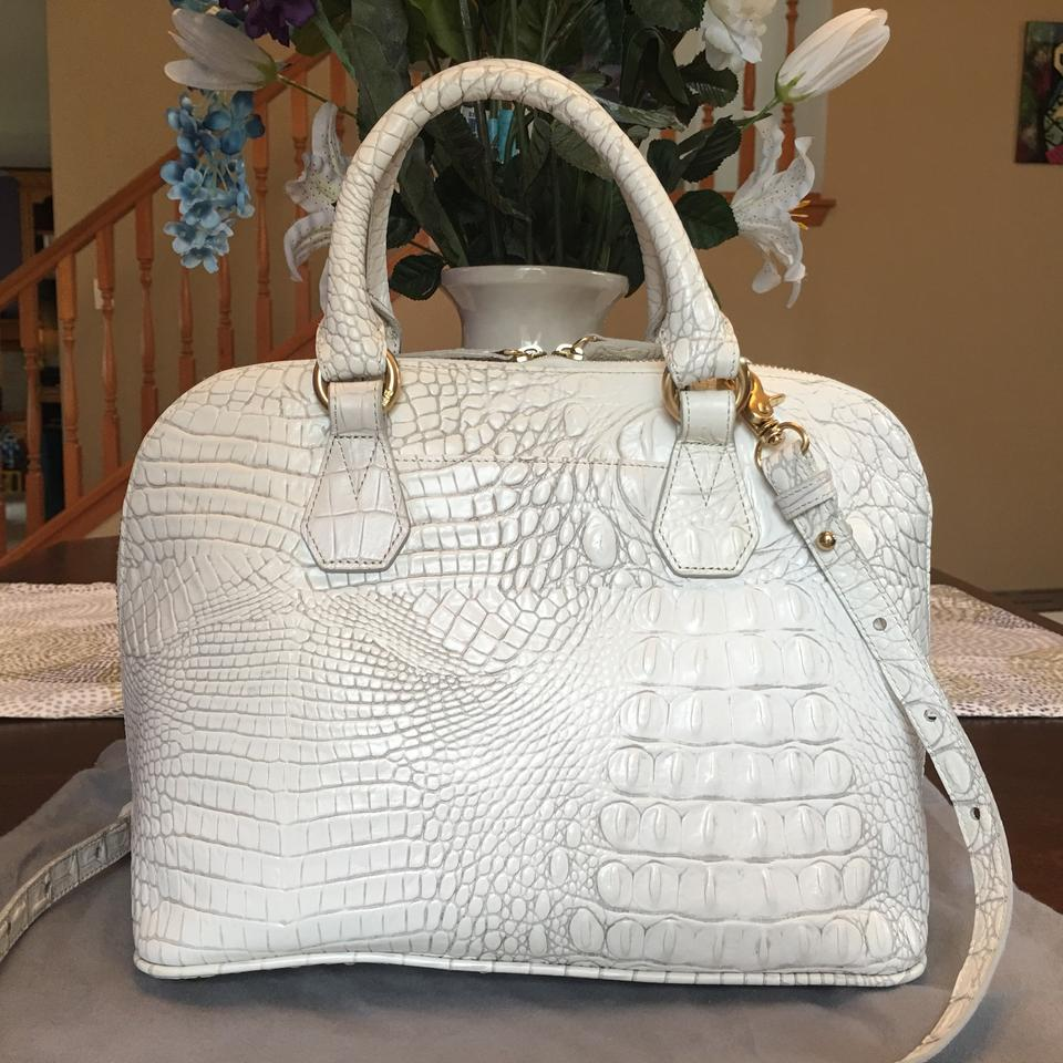 To New Like Brahmin Dome Find Vivian Satchel White Hard 5w4nqvT