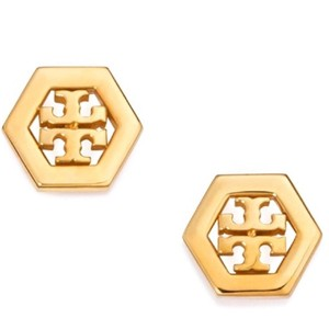 Tory Burch Brand new! Tory Burch LOGO STUD EARRINGS