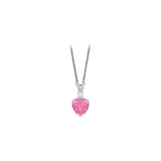 Preload https://img-static.tradesy.com/item/23707175/pink-heart-shaped-created-sapphire-and-cubic-zirconia-pendant-necklace-0-0-540-540.jpg