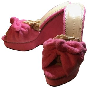 Charlotte Olympia Pinky Pink Wedges