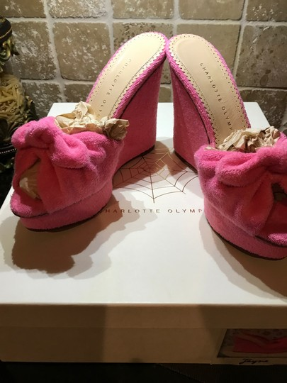 Charlotte Olympia Pinky Pink Wedges Image 10