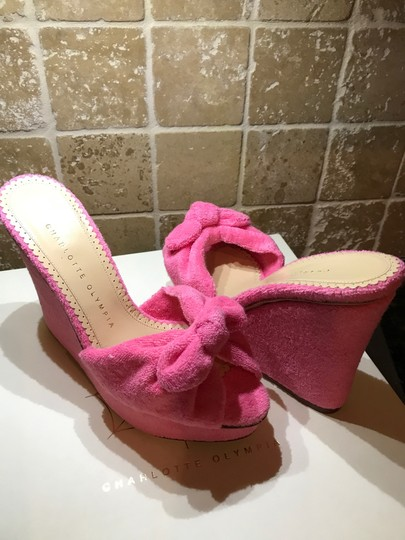 Charlotte Olympia Pinky Pink Wedges Image 4