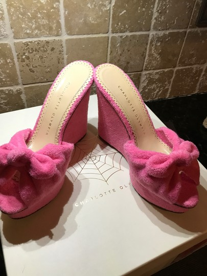 Charlotte Olympia Pinky Pink Wedges Image 6