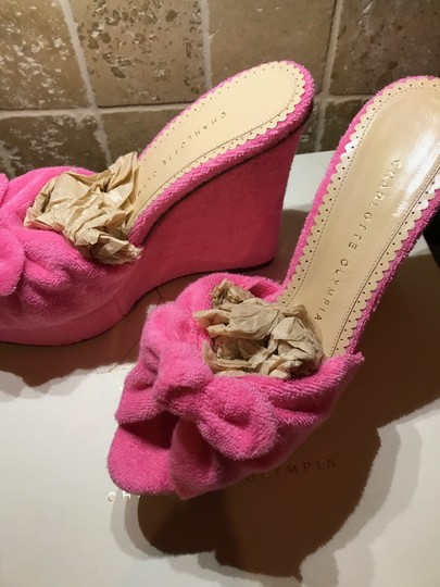 Charlotte Olympia Pinky Pink Wedges Image 8