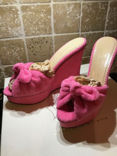 Charlotte Olympia Pinky Pink Wedges Image 9