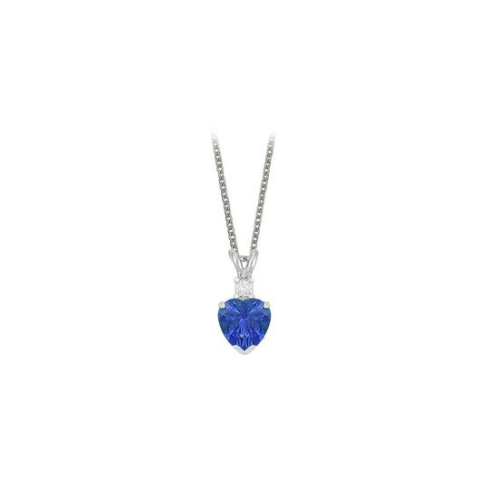 Preload https://img-static.tradesy.com/item/23707207/blue-heart-shaped-created-sapphire-and-cubic-zirconia-pendant-necklace-0-0-540-540.jpg