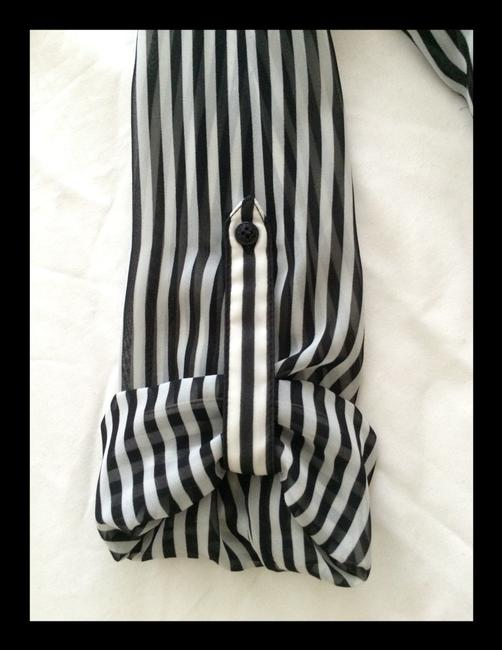 Guess Button Down Shirt Black And White