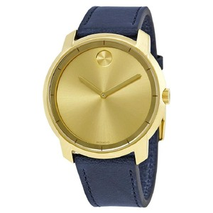 Movado Sunray Dial Men's Leather Watch