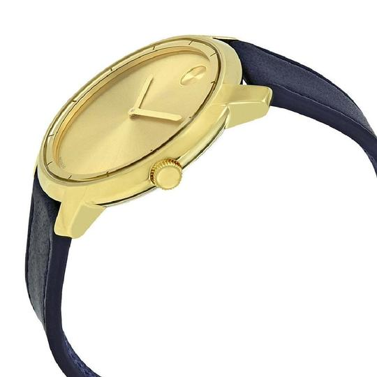 Movado Sunray Dial Men's Leather Watch Image 1