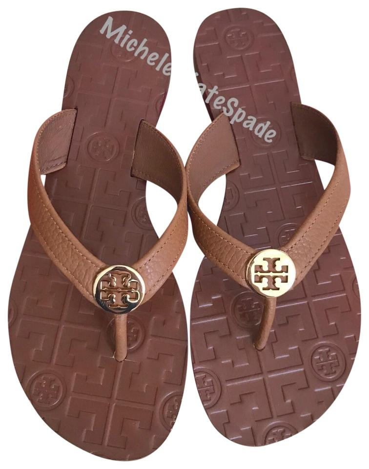664e6f8630d Tory Burch Brown Thora Thong Leather Royal Tan Sandals Size US 9 ...