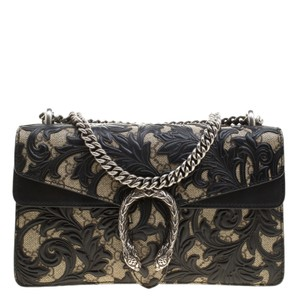 8b04ada9ee0d Added to Shopping Bag. Gucci Shoulder Bag. Gucci Dionysus Gg Supreme Canvas  Small Arabesque Black Leather ...