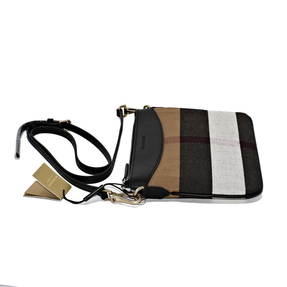 9b5677cffd6d Burberry Peyton Black House Check Canvas and Leather Cross Body Bag -  Tradesy