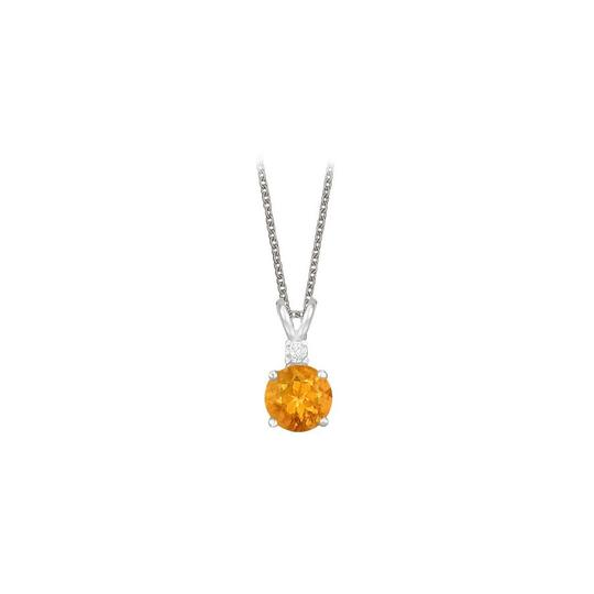 Preload https://img-static.tradesy.com/item/23707478/yellow-round-cut-citrine-and-cubic-zirconia-pendant-necklace-0-0-540-540.jpg