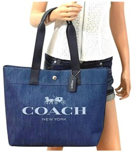 Coach Horse Tote in Denim