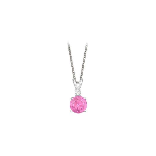 Preload https://img-static.tradesy.com/item/23707504/pink-round-cut-created-sapphire-and-cubic-zirconia-pendant-necklace-0-0-540-540.jpg