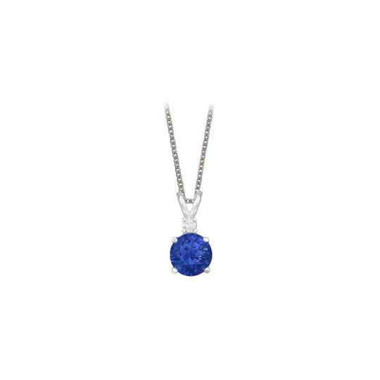 Preload https://img-static.tradesy.com/item/23707522/blue-round-cut-created-sapphire-and-cubic-zirconia-pendant-necklace-0-0-540-540.jpg