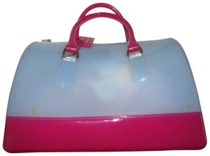 Furla Xl Tote/Satchel Great Pop Of Color Furla's 'candy' & Satchel in pale blue and hot pink translucent jelly plastic