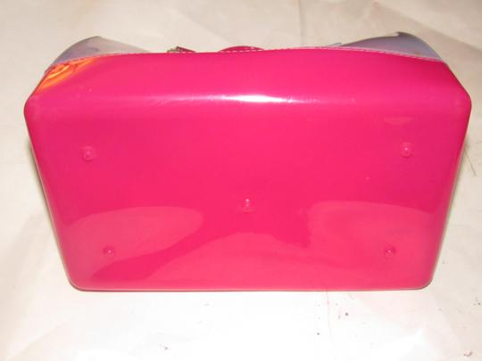 Furla Xl Tote/Satchel Great Pop Of Color Furla's 'candy' & Satchel in pale blue and hot pink translucent jelly plastic Image 2