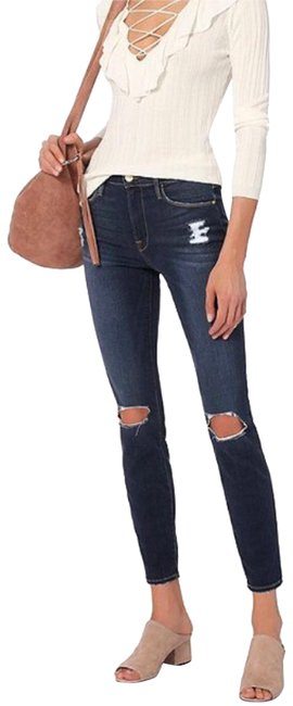 Item - Blue Distressed Le High Marlowe Skinny Jeans Size 8 (M, 29, 30)